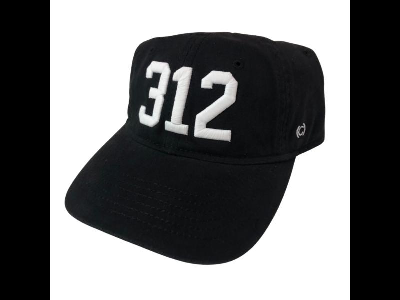 CodeWord 312 Chicago Baseball Cap Black & White (White Sox)