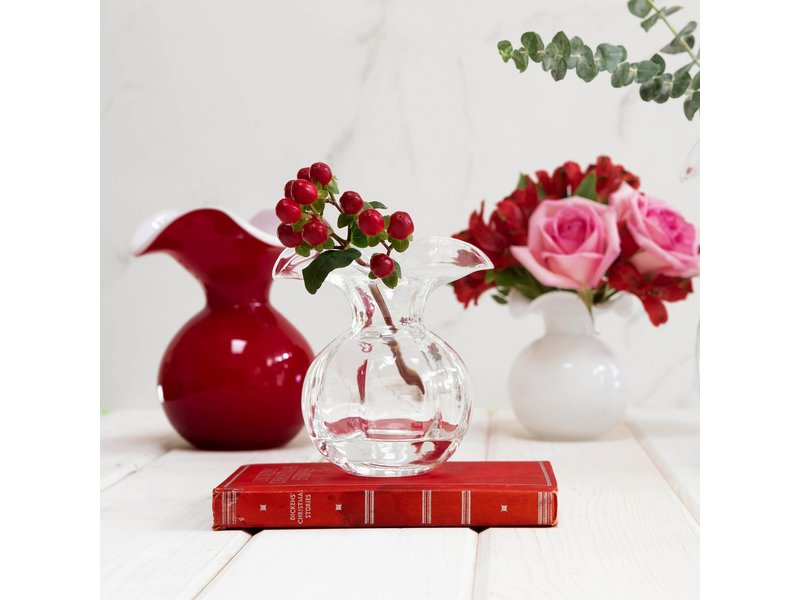Vietri Incorporated Hibiscus Glass Clear Bud Vase
