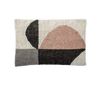 Deco Woven Cotton Lumbar Pillow