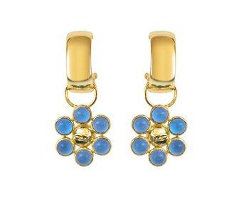 Dina Blue Earrings