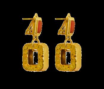 Delphine Orange Earrings