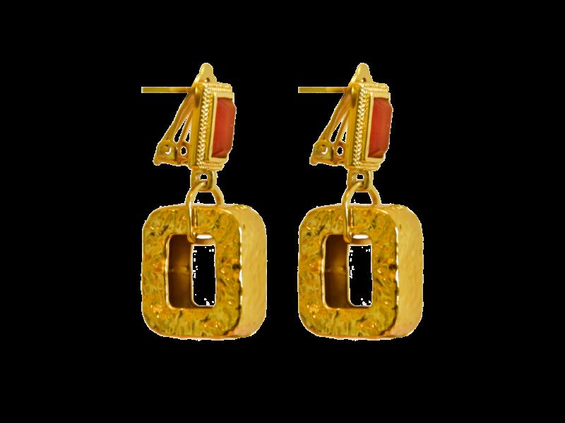 Mountain + Moon Delphine Orange Earrings