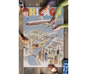 Chicago By Air 1000 Piece Puzzle