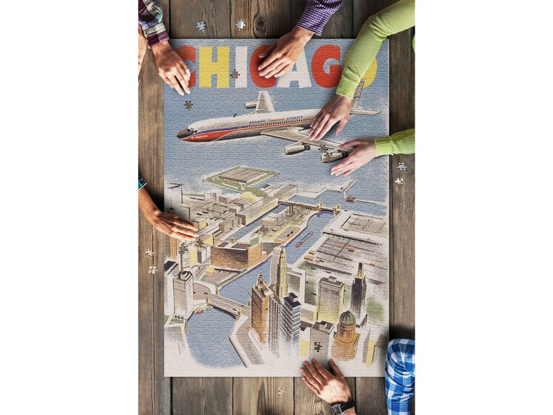 Lantern Press Chicago By Air 1000 Piece Puzzle