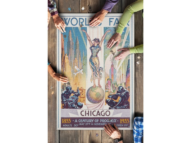 Lantern Press Chicago World's Faire 1000 Piece Puzzle
