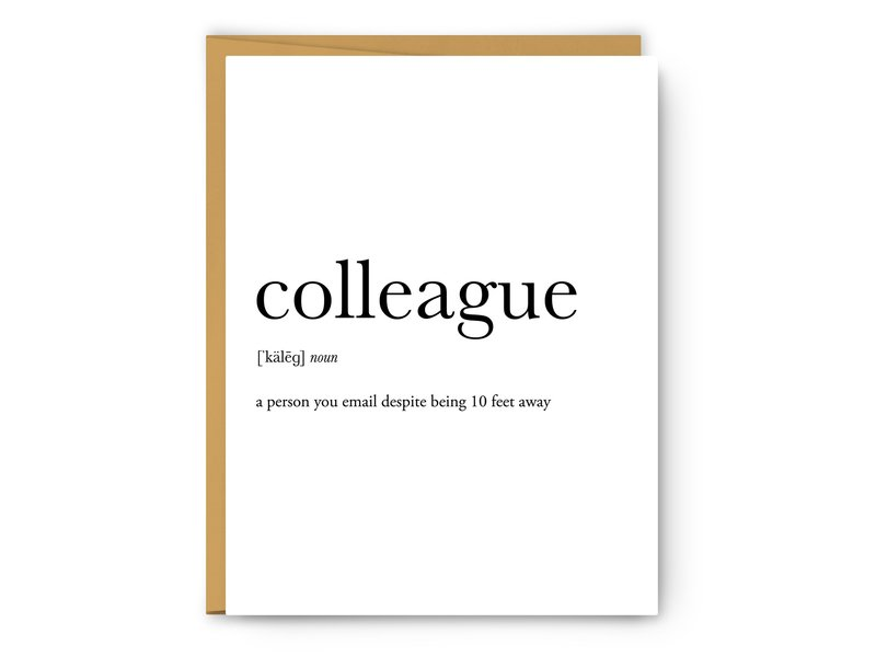 Footnotes Colleague Definition