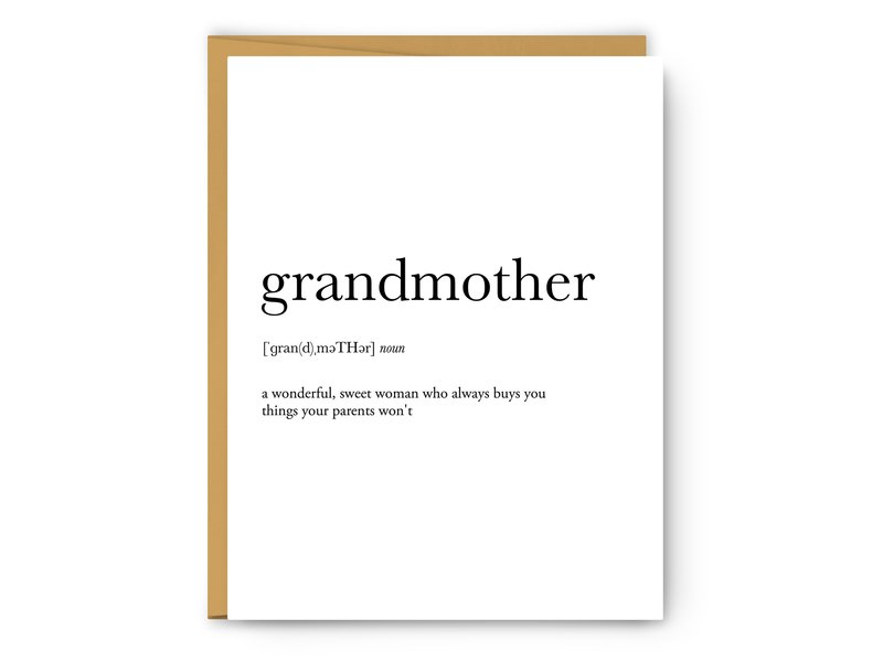 Footnotes Grandmother Definition