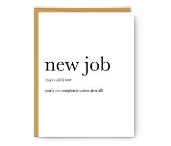 New Job Definition
