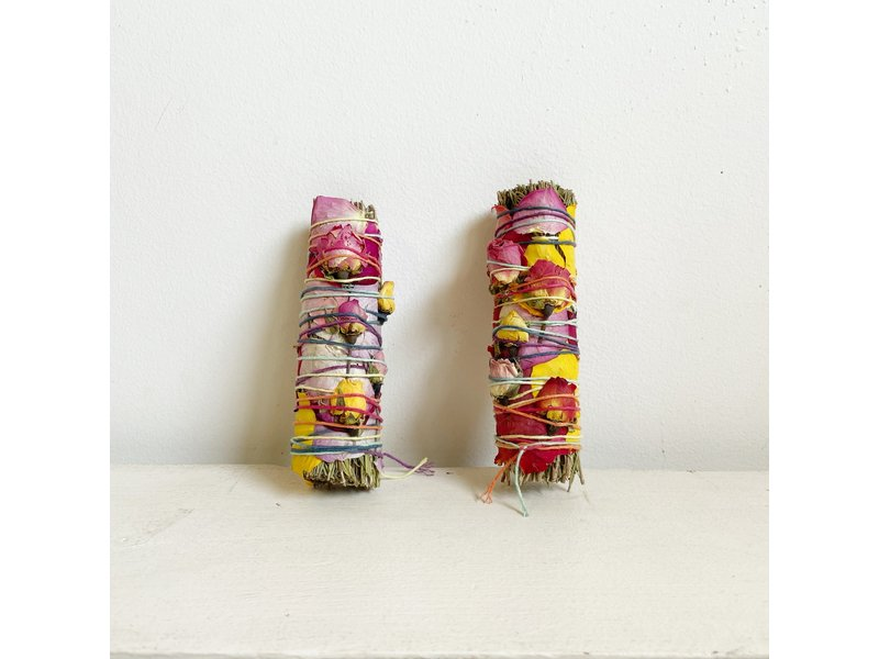 Catherine Rising Floral Rosemary Smudge Stick