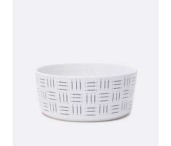 Mudcloth Line Print Bowl