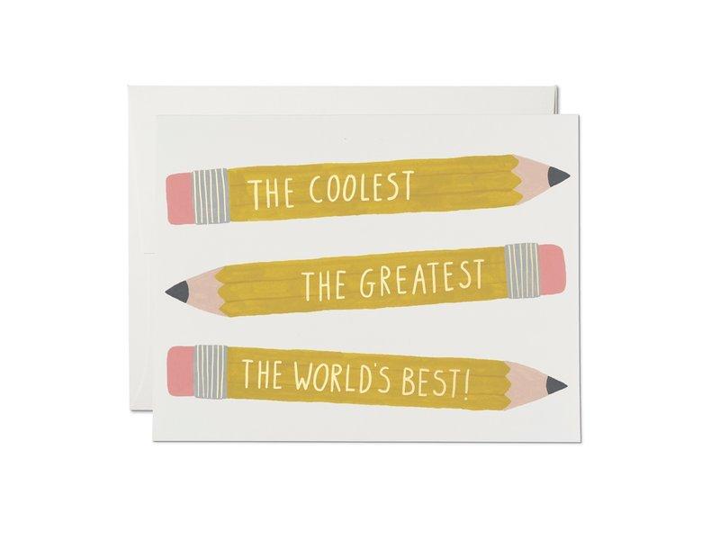 Red Cap Cards Pencils