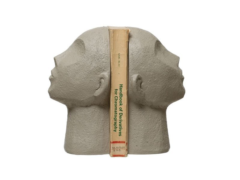Bloomingville Resin Face Bookends