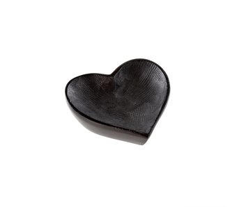 Soapstone Black Heart Dish