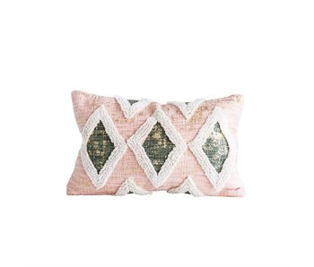 Cotton Pillow with Embroidery