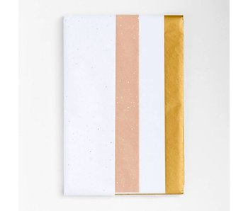White & Gold Tissue Paper Set