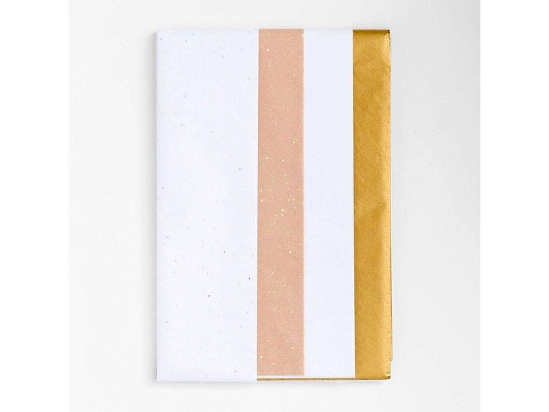Paper Source White & Gold Tissue Paper Set