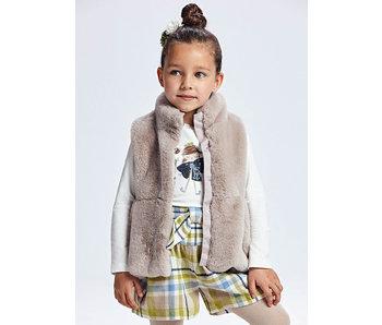 Taupe Long Fur Vest