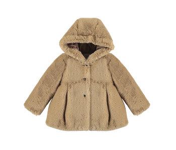 Hazelnut Faux Fur Coat