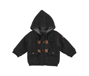 Charcoal Toggle Hooded Cardigan