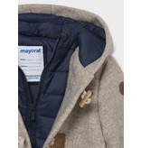 Mayoral Walnut Toggle Hooded Jacket