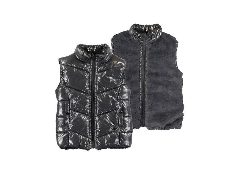 Mayoral Black Reversible Puffer Vest
