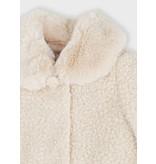 Mayoral Teddy Almond Coat with Faux Fur Trim