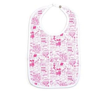 Chicago Pink Baby Bib
