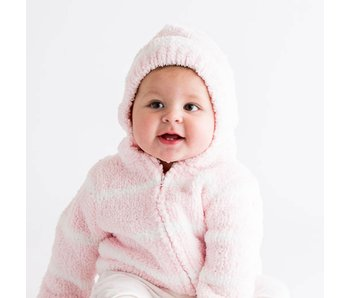 Chenille Pink & Ivory Hoodie