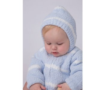 Chenille Blue & Ivory Hoodie