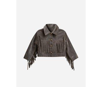 Charcoal Fringe Jacket