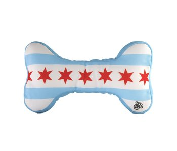 Chicago Flag Bone Dog Toy