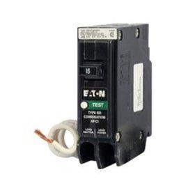 EATON 15 AMP - SINGLE POLE - COMBIMATION AFCI BREAKER