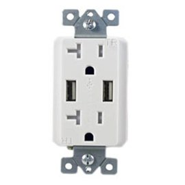 COVALIN 120V 20A TR USB CHARGING RECEPTACLE (4A EXPRESS CHARGING) WHILE QUANTITIES LAST