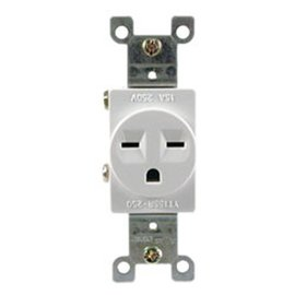 15A, 250VAC, SINGLE RECEPTACLE