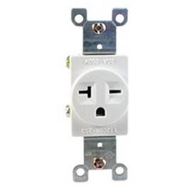 20A, 250VAC, SINGLE RECEPTACLE