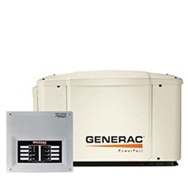 GENERAC 7.5/6 KW AIR COOLED STANDBY GENERATOR WITH WIFI, STEEL ENCLOSURE, 8 CIRCUIT LC – NO WHIP [1 2 WEEKS SHIPPING]
