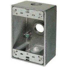 VISTA WEATHERPROOF METAL FS BOX 5 X 3/4'' HOLES - GREY