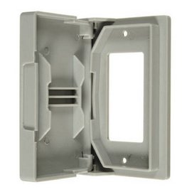 VISTA WEATHERPROOF GFCI OUTLET COVER W/GASKET -  WHITE