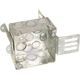 ORTECH 52171-KSSX SQUARE STEEL JUNCTION BOX W/WRAPAROUND BRACKET 2-1/8''D X 4''H X 4''W