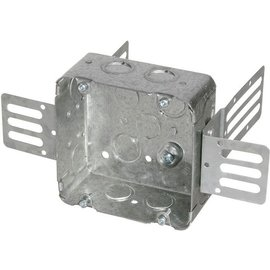 ORTECH 72171-KSSX SQUARE STEEL JUNCTION BOX W/ WRAPAROUND BRACKET 2-1/8''D X 4-11/16''H X 4-11/16''W