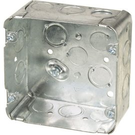 ORTECH 72171K  4-11/16 X 4-11/16 X 2-1/8 SQUARE STEEL JUNCTION BOX (STOVE BOX)