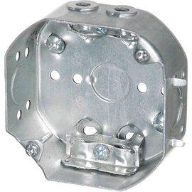 VISTA 54151-LA - 1 1/2'' DEEP CEILING BOX W/ARMOURED CLAMPS