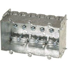 VISTA 2104-LLE3 - 2 1/2'' DEEP BOX - 3 GANG W/NAILING LOOP & CLAMPS