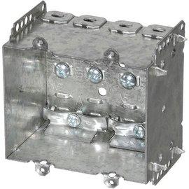 VISTA 2104-LLE2 - 2 1/2'' DEEP BOX - 2 GANG W/NAILING LOOP & CLAMPS