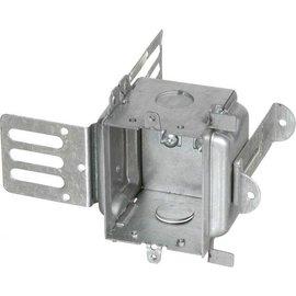 VISTA 1204-SSX-HV - 347V 2½'' DEEP GANGABLE METAL STUD BOX W/BRACKET