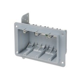 VISTA 3 GANG PLASTIC BOX WITH CLAMPS - 51 CU. IN.