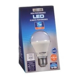 VISTA 7W A19, DIMMABLE, EQUAL TO A 40W, 490 LUMEN, 3000K