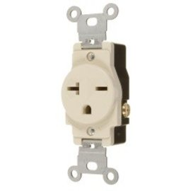 VISTA 20A/250V SINGLE STANDARD OUTLET - IVORY