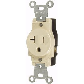 VISTA 20A/125V SINGLE STANDARD OUTLET - IVORY