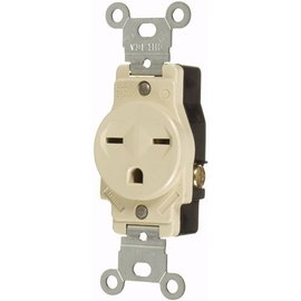 VISTA 15A/250V SINGLE STANDARD OUTLET - WHITE
